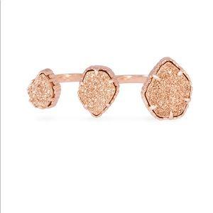 Kendra Scott rose gold Naomi ring